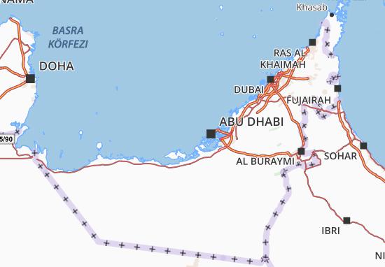 Dubai Sulla Cartina Geografica.Mappa Michelin Emirati Arabi Uniti Viamichelin