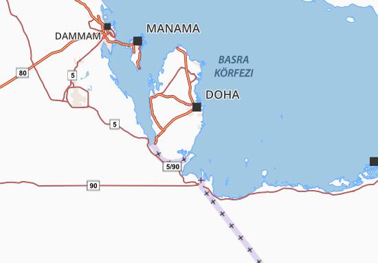 Kaart Plattegrond Al Wakra