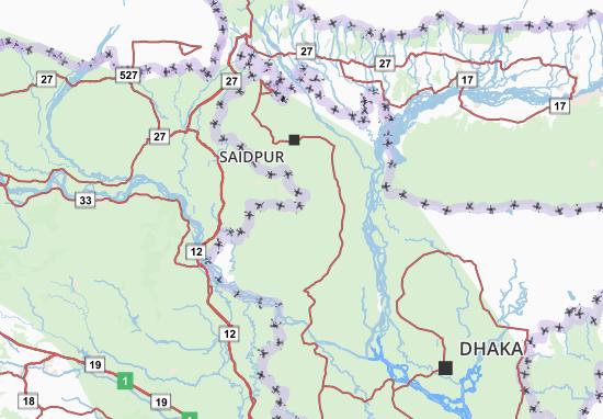 Carte-Plan Rajshahi