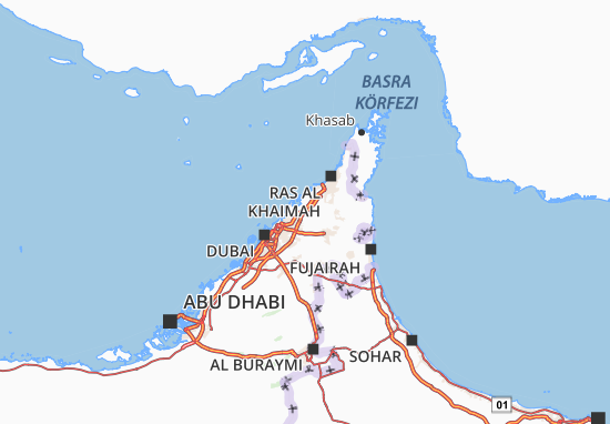 Map of Umm Al Quwain - Michelin Umm Al Quwain map - ViaMichelin