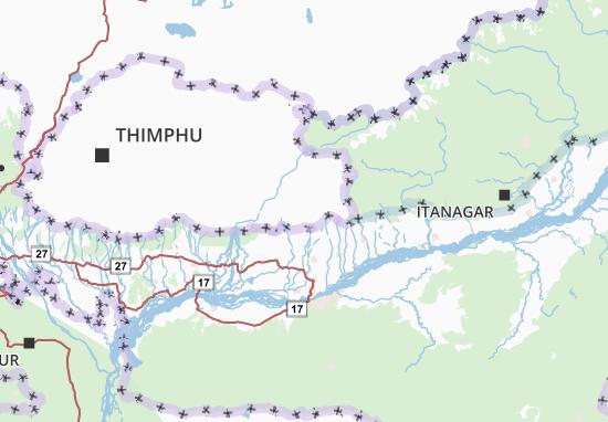 Mapa Plano Samdrup Jongkhar