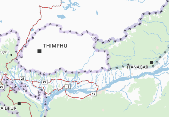 Mongar Map