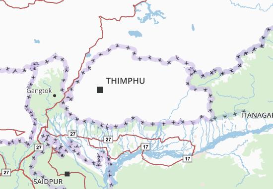 Mapa Plano Druk Yul