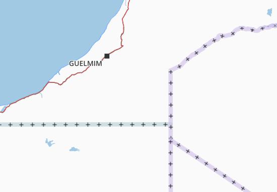 Carte-Plan Guelmim-Es Smara