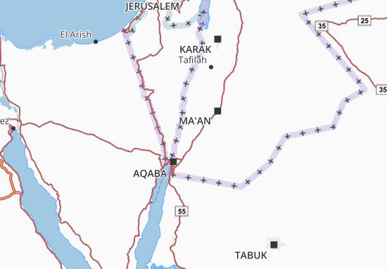 Kaart Plattegrond Aqaba