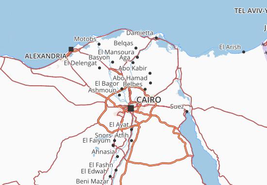 Mapas-Planos Qalyubia