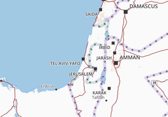 Tel Aviv Jerusalem Karte.Detailed Map Of Tel Aviv Tel Aviv Map Viamichelin