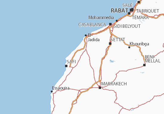 Mapa Plano Doukala-Abda