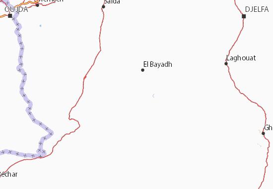 Carte Algerie El Bayadh.Carte Detaillee El Bayadh Plan El Bayadh Viamichelin