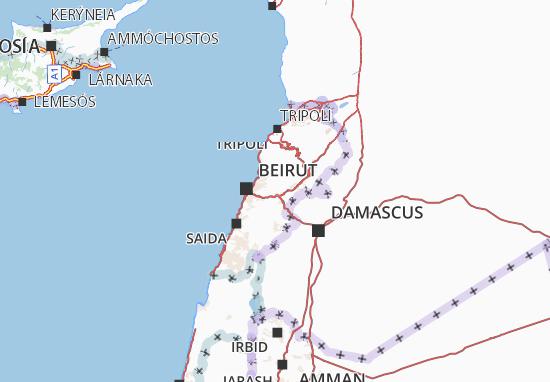 Cartina Del Libano.Mappa Michelin Libano Viamichelin
