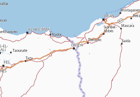 Carte-Plan Oujda-Angad