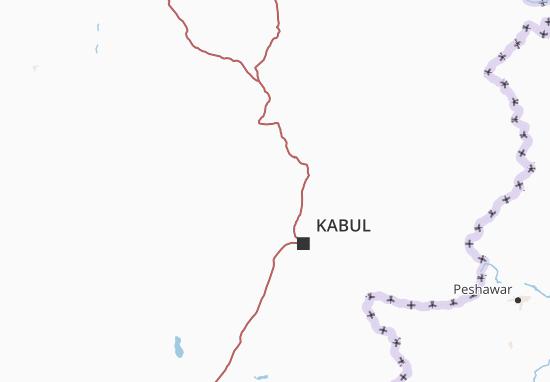Map Of Parvan Michelin Parvan Map ViaMichelin - Charikar map