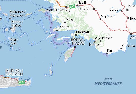 Carte-Plan Dodekanisa