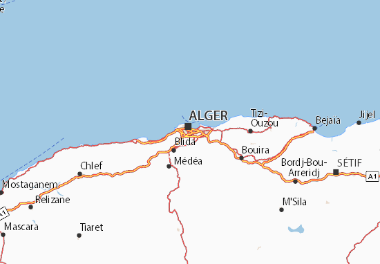 Carte-Plan Alger