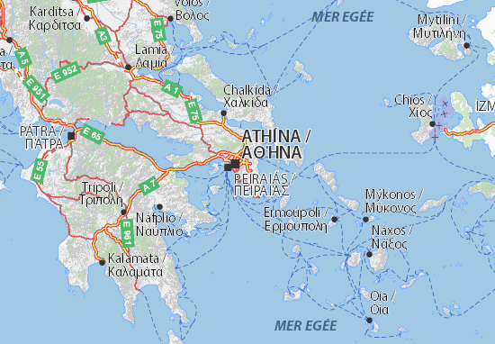 Carte-Plan Anatoliki Attiki