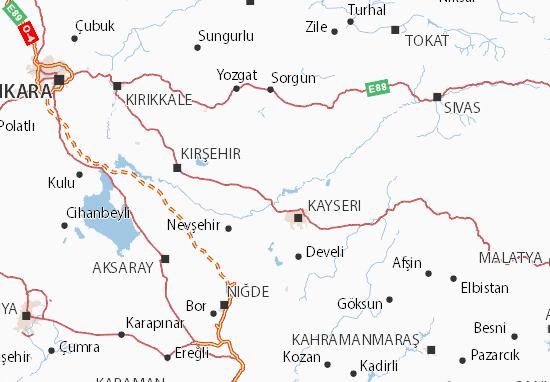 Kaart Plattegrond Türkiye