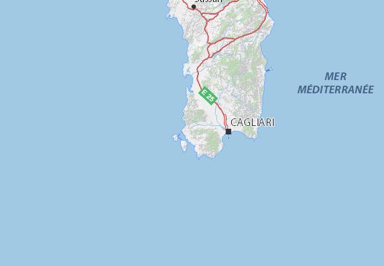 Cartina Michelin Sardegna.Mappa Michelin Carbonia Iglesias Pinatina Di Carbonia Iglesias Viamichelin