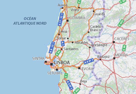 santarem mapa Mapa Santarém   plano Santarém  ViaMichelin santarem mapa