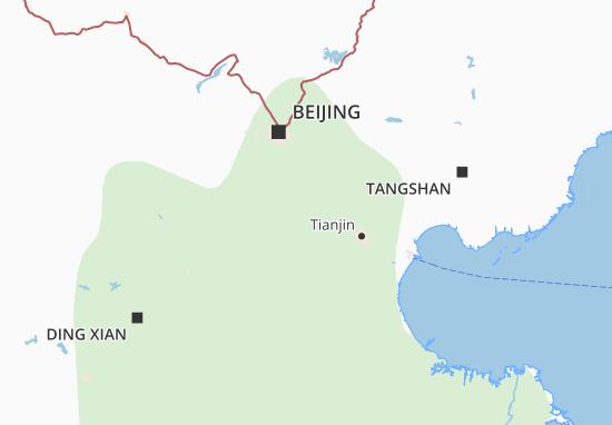 Kaart Plattegrond Hebei