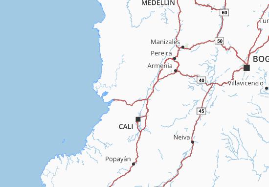 Valle del Cauca Map