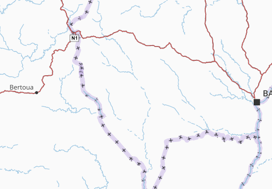 Carte-Plan Mambéré-Kadéï
