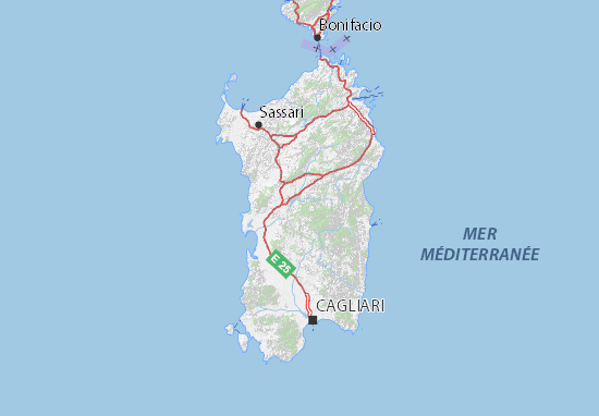 Cartina Sardegna Grande.Mappa Michelin Sardegna Pinatina Di Sardegna Viamichelin