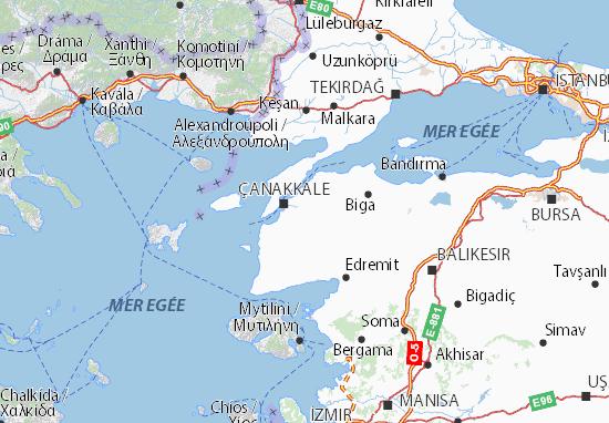 Carte-Plan Çanakkale