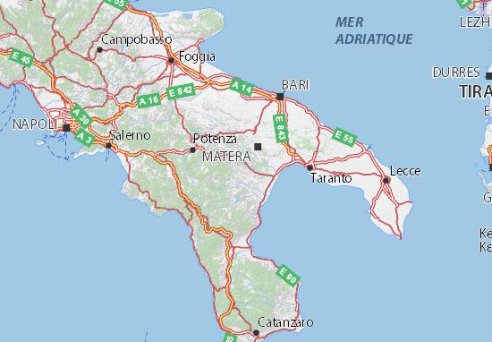Matera Italien Karte