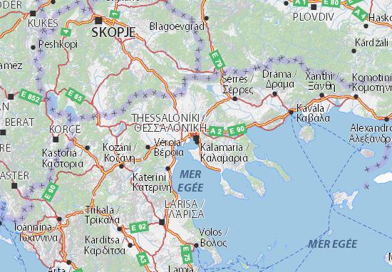 Kentrikí Makedonía Map