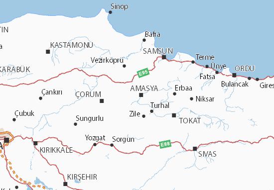 Carte-Plan Amasya