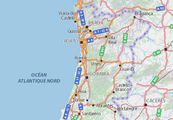 aveiro mapa portugal Mapa Aveiro   plano Aveiro  ViaMichelin aveiro mapa portugal