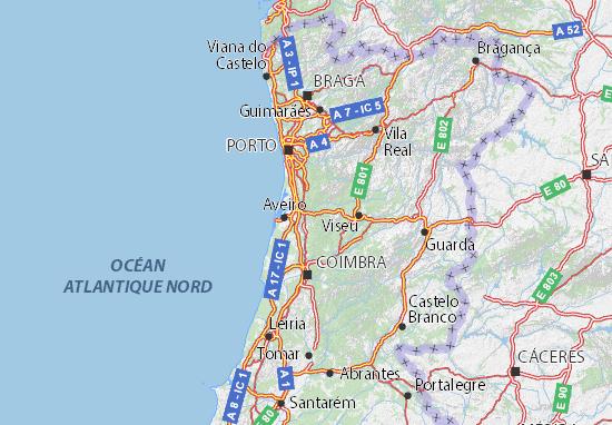 aveiro mapa de portugal Mapa Aveiro   plano Aveiro  ViaMichelin aveiro mapa de portugal