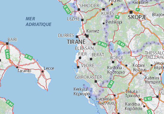 Cartina Di Albania.Mappa Fier Cartina Fier Viamichelin