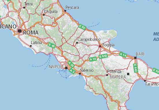 Map of Benevento - Michelin Benevento map - ViaMichelin