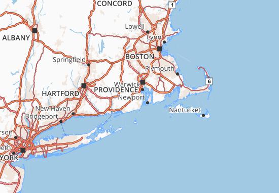 Map of Rhode Island - Michelin Rhode Island map - ViaMichelin