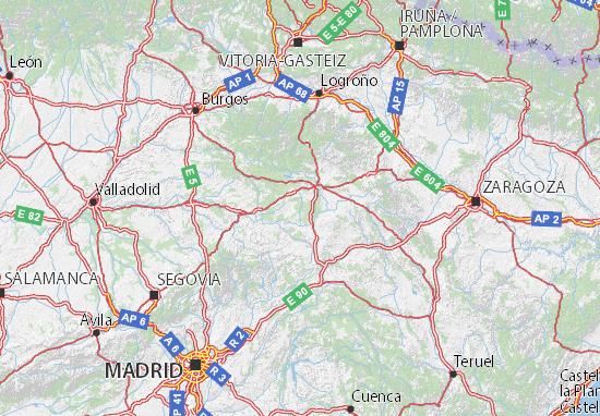 Mapa De Avila Capital.Mapa Soria Plano Soria Viamichelin