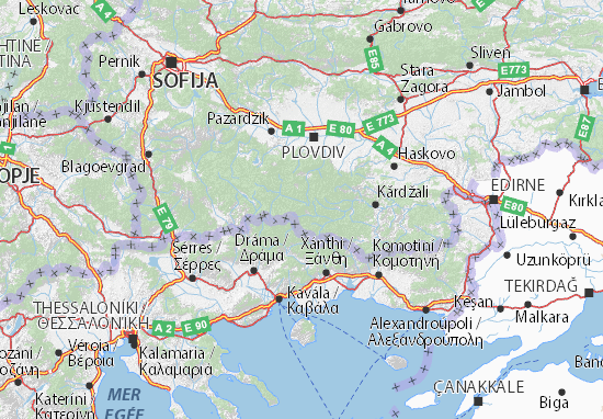 Mapa Plano Smoljan