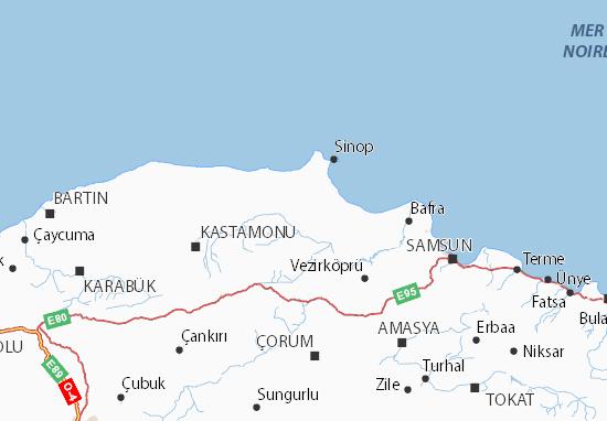 Kaart Plattegrond Sinop