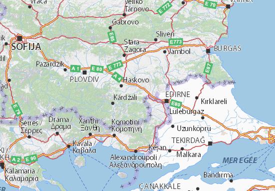 Karte Stadtplan Haskovo