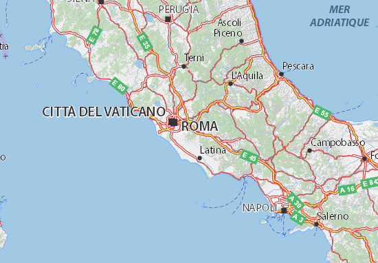 Cartina Geografica Fisica Lazio.Mappa Lazio Cartina Lazio Viamichelin