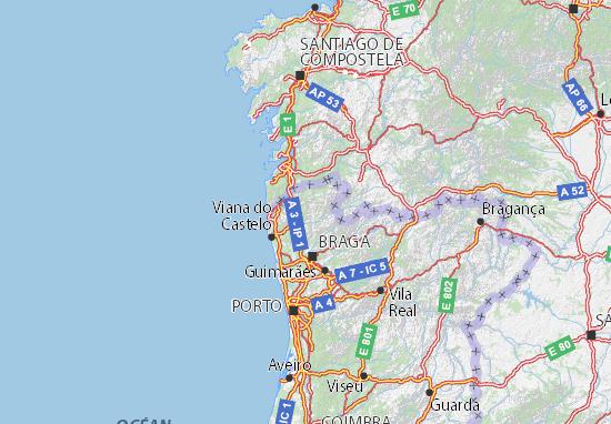 mapa de viana do castelo Mapa Viana do Castelo   plano Viana do Castelo  ViaMichelin mapa de viana do castelo