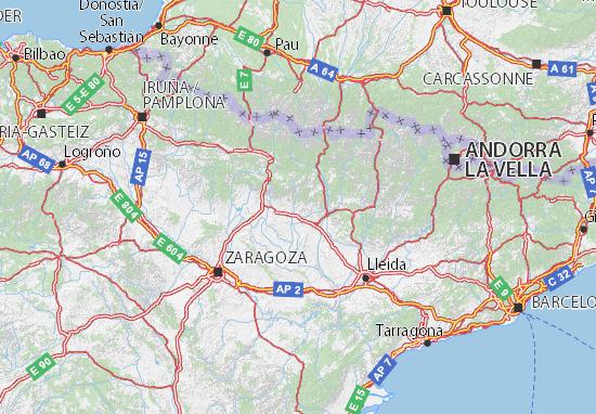 Mapa Provincia De Huesca Pueblos.Mapa Huesca Plano Huesca Viamichelin