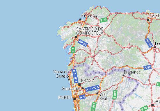 mapa espanha pontevedra Mapa Pontevedra   plano Pontevedra  ViaMichelin mapa espanha pontevedra