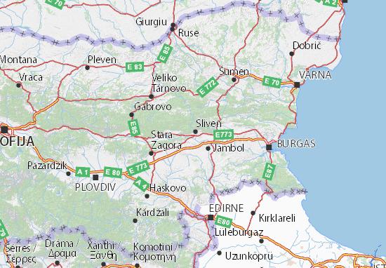 Mapa Plano Sliven