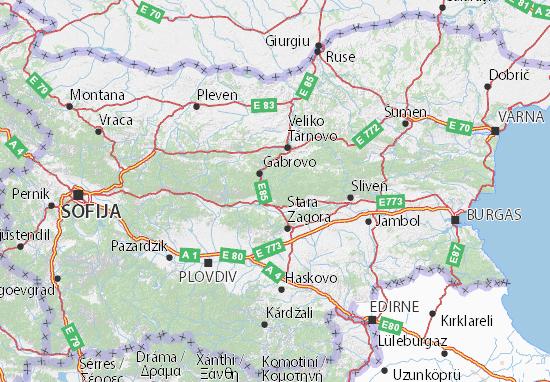 Kaart Plattegrond Bălgarija