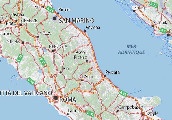 Carte-Plan Ascoli Piceno