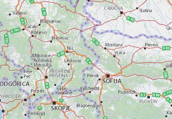 Pirotski okrug Map