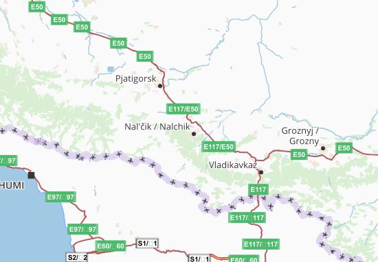 Mapas-Planos Kabardino-Balkarskaja Respublika