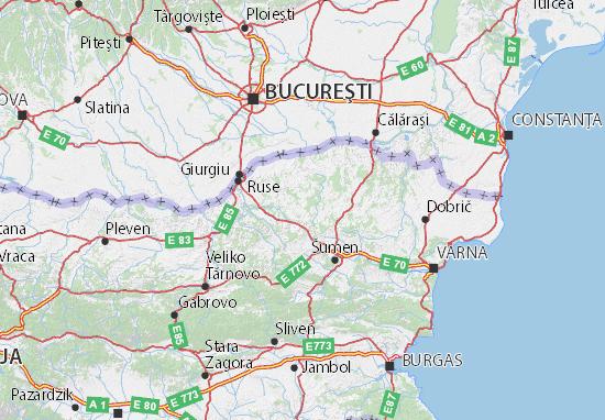 Kaart Plattegrond Razgrad
