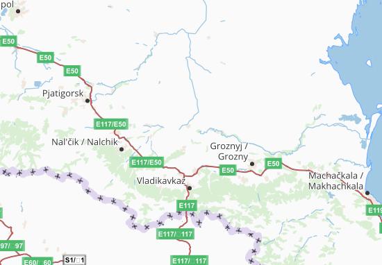 Carte-Plan Severo-Kavkazskij Federal'nyj Okrug